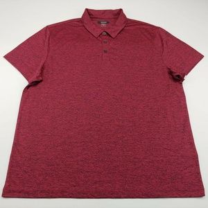 Alfani Stretch Men's Short Sleeve Button Down Red